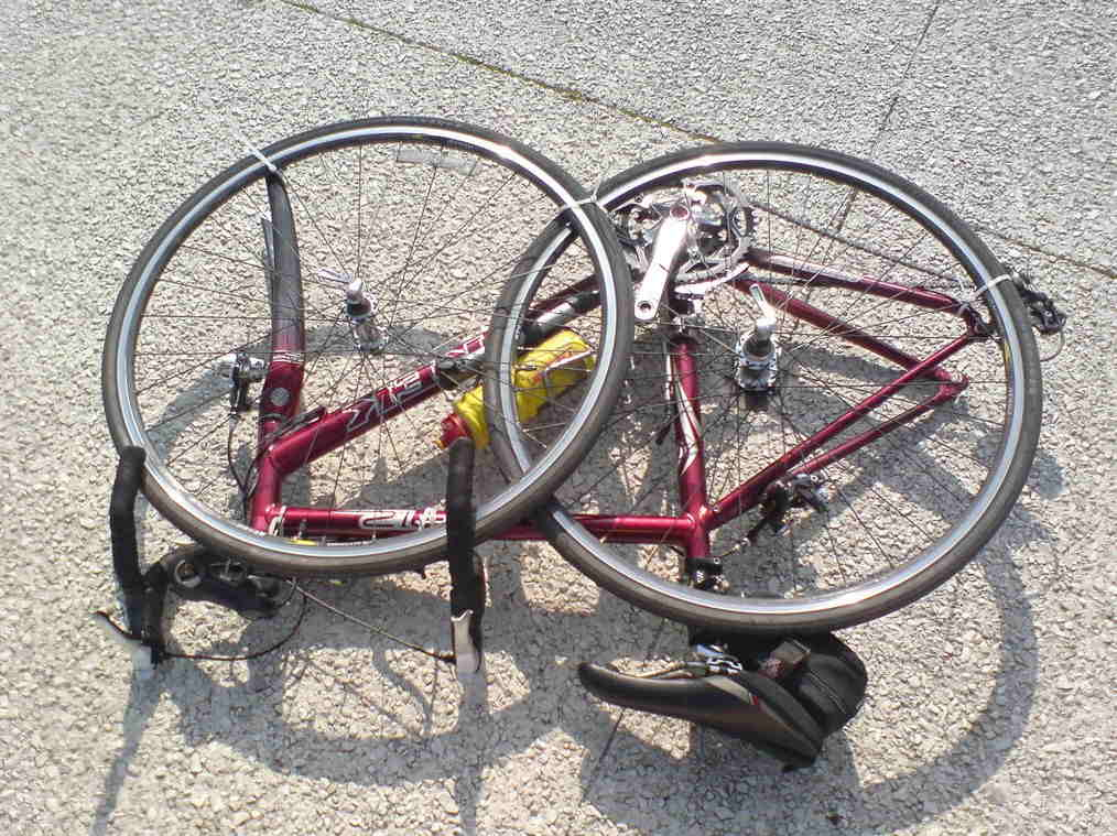 Dismantled bicycle