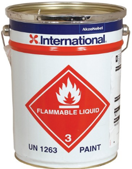 flammable liquid paint can