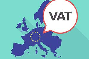 european union and vat symbol icon