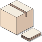 Doube layered cardboard box